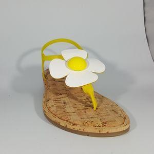 NR Rapisardi Thong Sandal w Elastic Bands & Flower